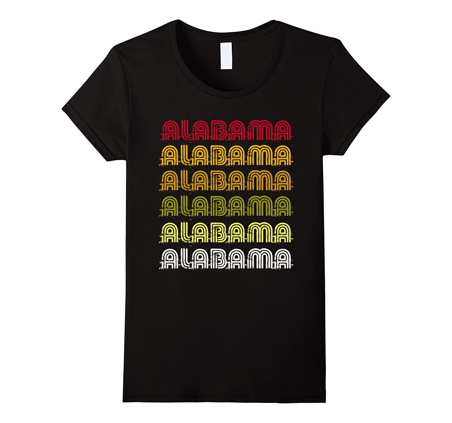 I Love My Home Alabama Vintage Retro Funny T-shirt Gifts-Teehay