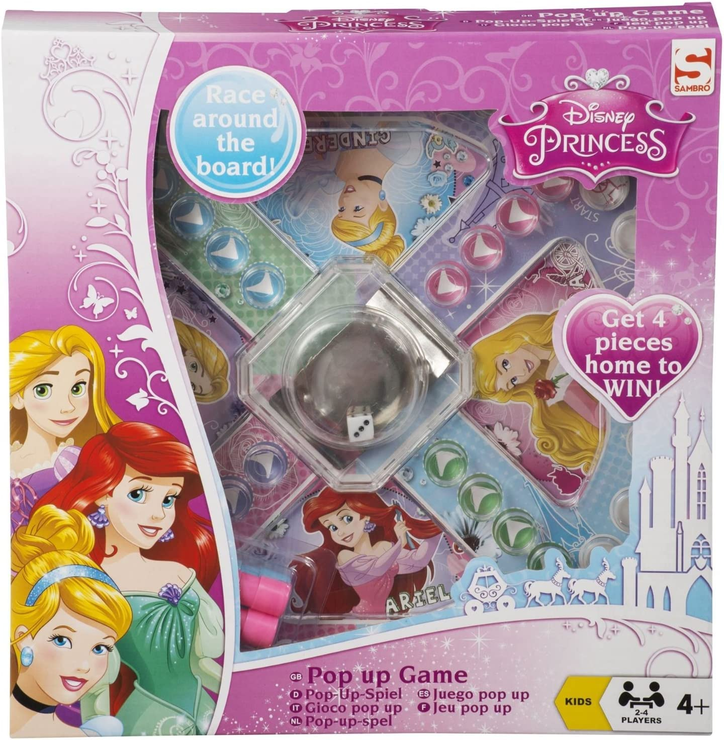 Sambro- Disney Pop Up - Juego de Mesa, Color Rosa (DSP-733): Amazon.es: Juguetes y juegos
