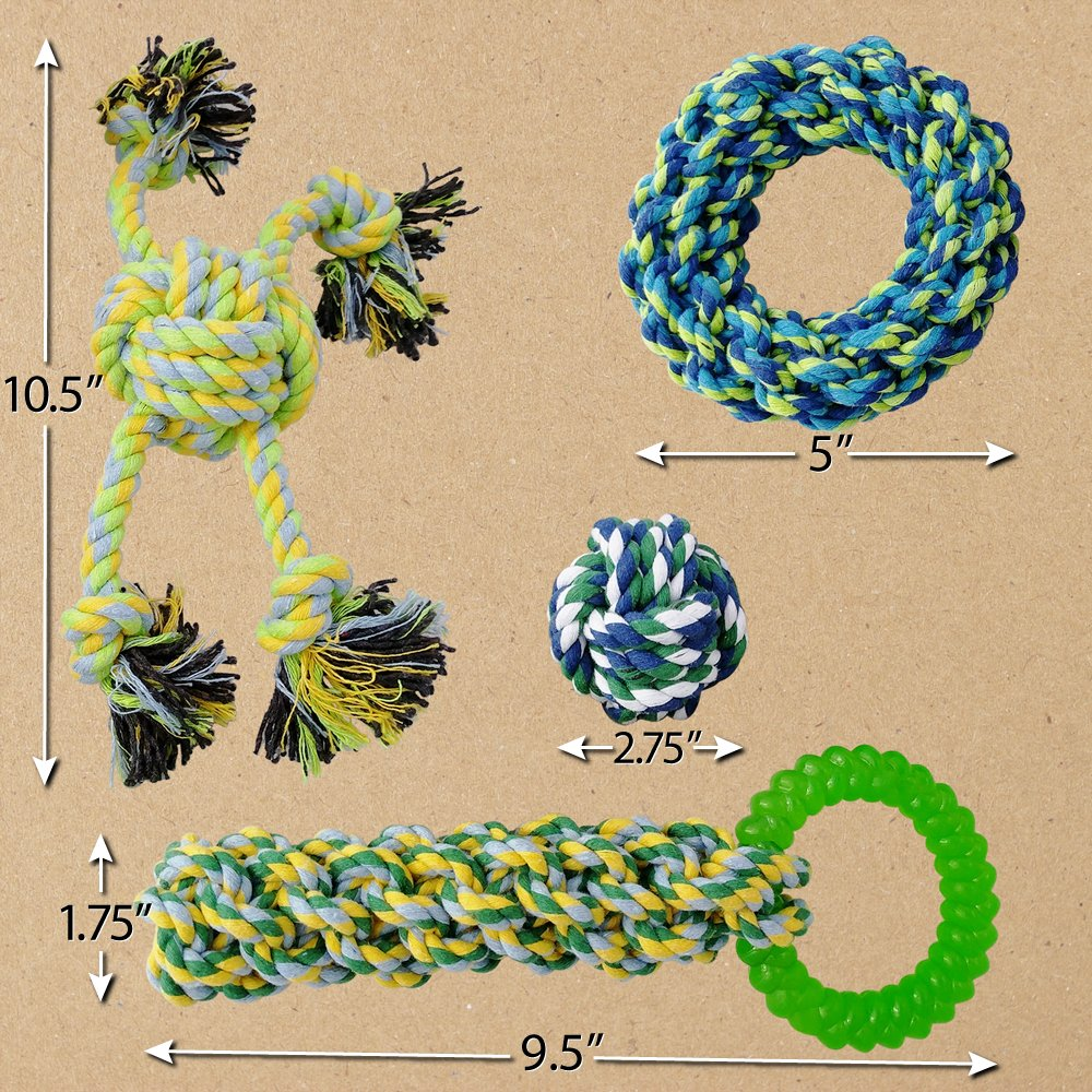 Otterly Pets Puppy Dog Pet Rope Toys - Small to Large Dogs (12-Pack) by Otterly Pets (Image #3)