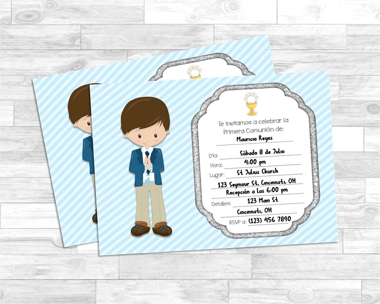 Amazon Com First Holy Communion Invitations For Boy