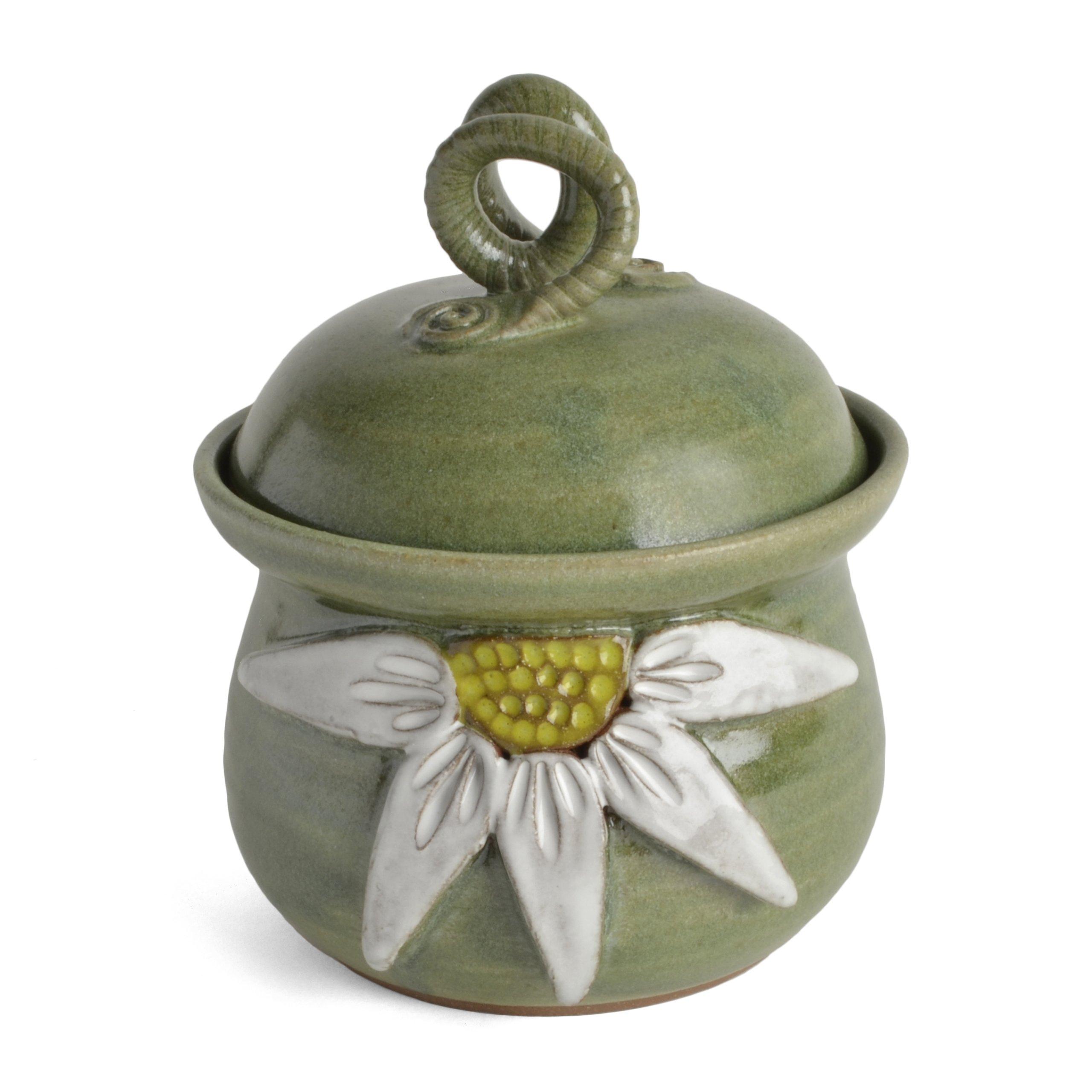 MudWorks Pottery Daisy Garlic Keeper by MudWorks Pottery