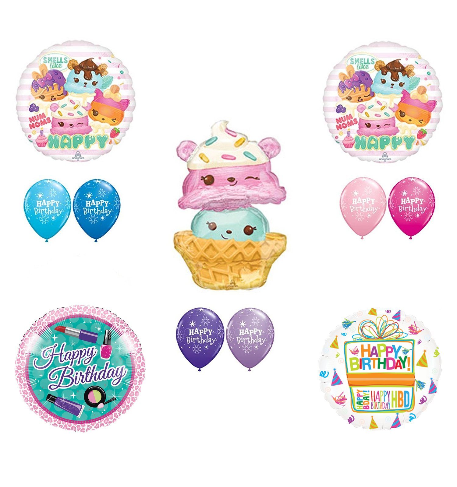 Num Noms Party Supplies and Birthday Balloon Bouquet Decorations