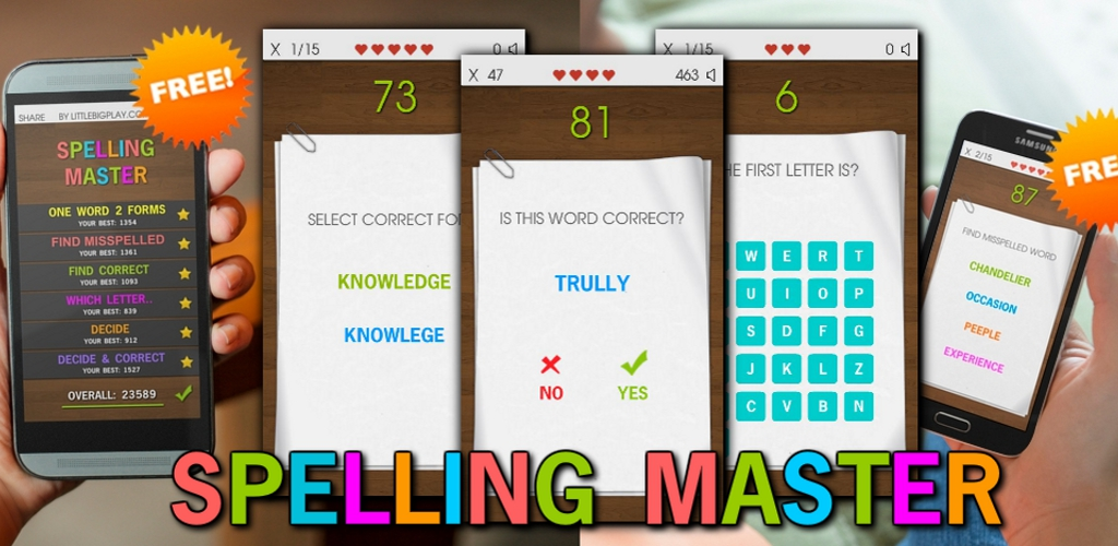 Spelling Master for android Phone users