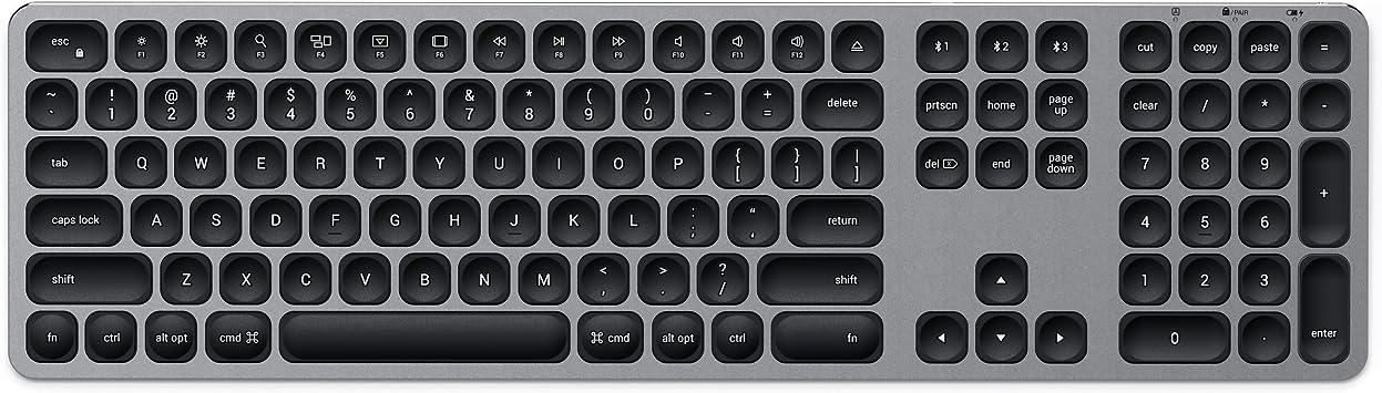 18 MacBook Air 18 Mac Mini SATECHI Teclado Inal/ámbrico Bluetooth de Aluminio con Keypad Num/érico Compatible con iMac Pro//iMac 19 MacBook Pro 19 iPad Ingl/és Estadounidense, Oro