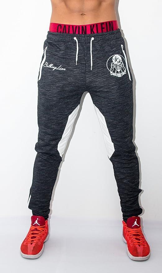 Bulking Lion Fitness - Pantalón de Hombre/Pantalones de Deporte ...