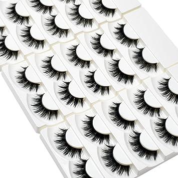 2ab23ac3a97 Amazon.com : Wleec Beauty Full Thick False Eyelash Pack Handmade Eyelashes  Set Long Strip Lashes #36 (15 Pairs/3 Pack) : Beauty