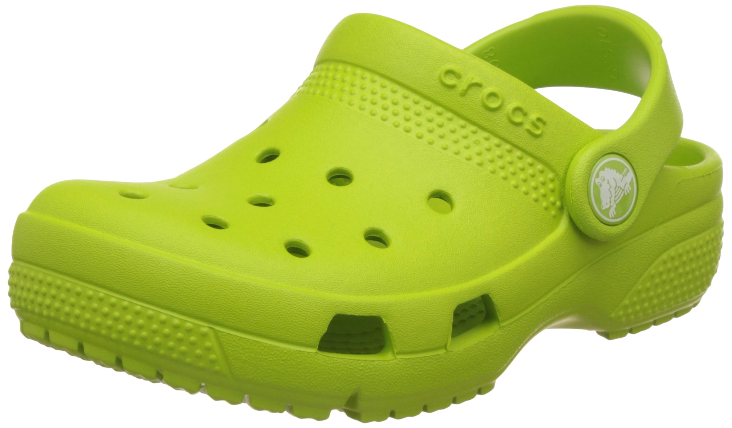 Crocs Kids Coast Clogs, Size: 7 M US Toddler, Color Volt Green