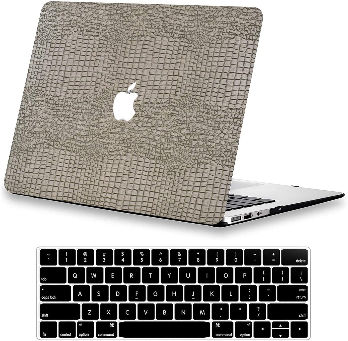 Case Compatible with MacBook Pro 16 inch A2141 DTangLsm Slim Leather Laptop Protective Case Plastic Hard Shell Case & Keyboard Cover Skin ONLY Fit for Newest 16 inch MacBook Pro 2019 Release, Silver