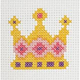 Maia Cotton Blend 1st Kit Crown Counted Cross Stitch Kit 4-Inch x 4-Inch, 8 Count