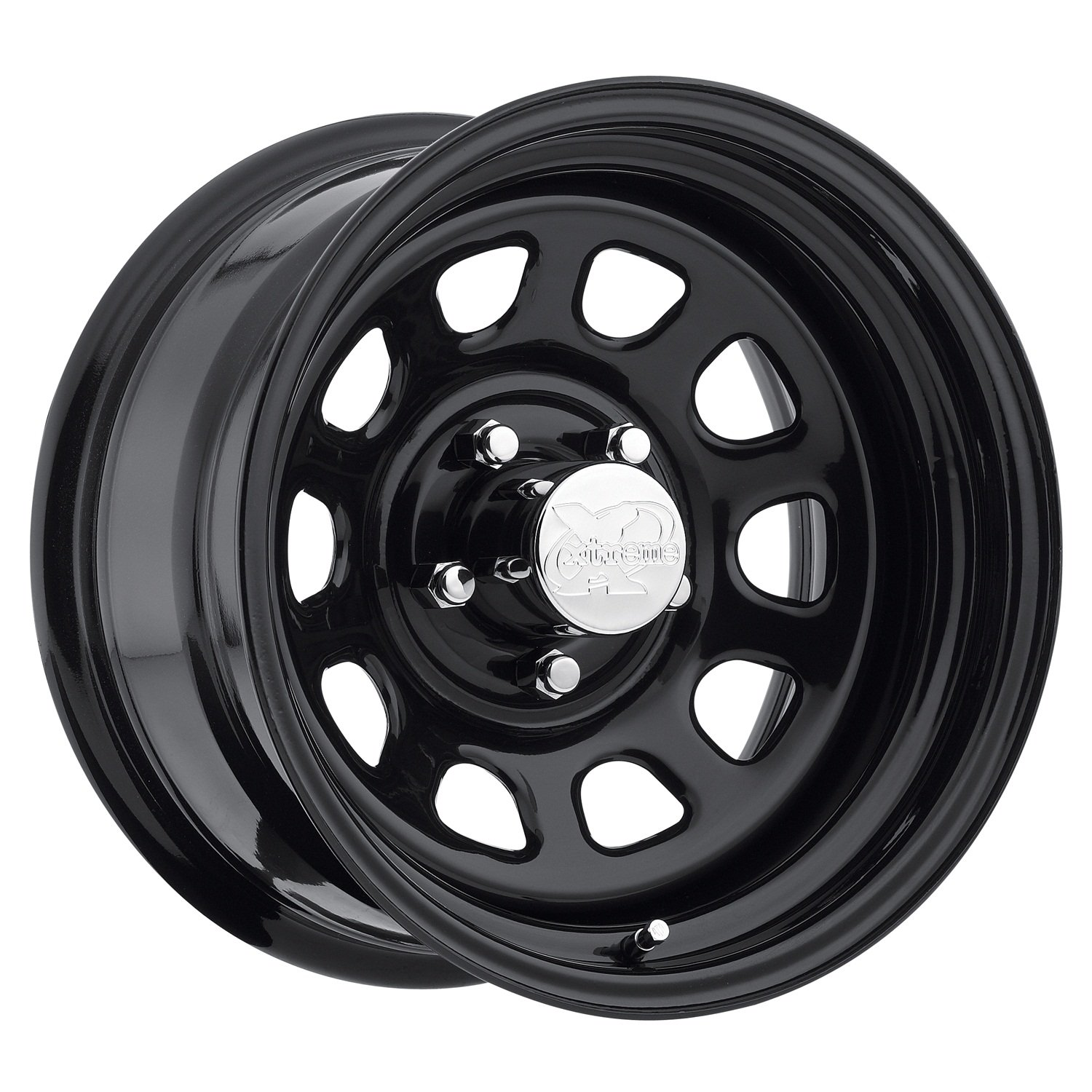 Pro Comp Steel Wheels Series 51 Wheel with Gloss Black Finish (17x9''/6x5.5'')
