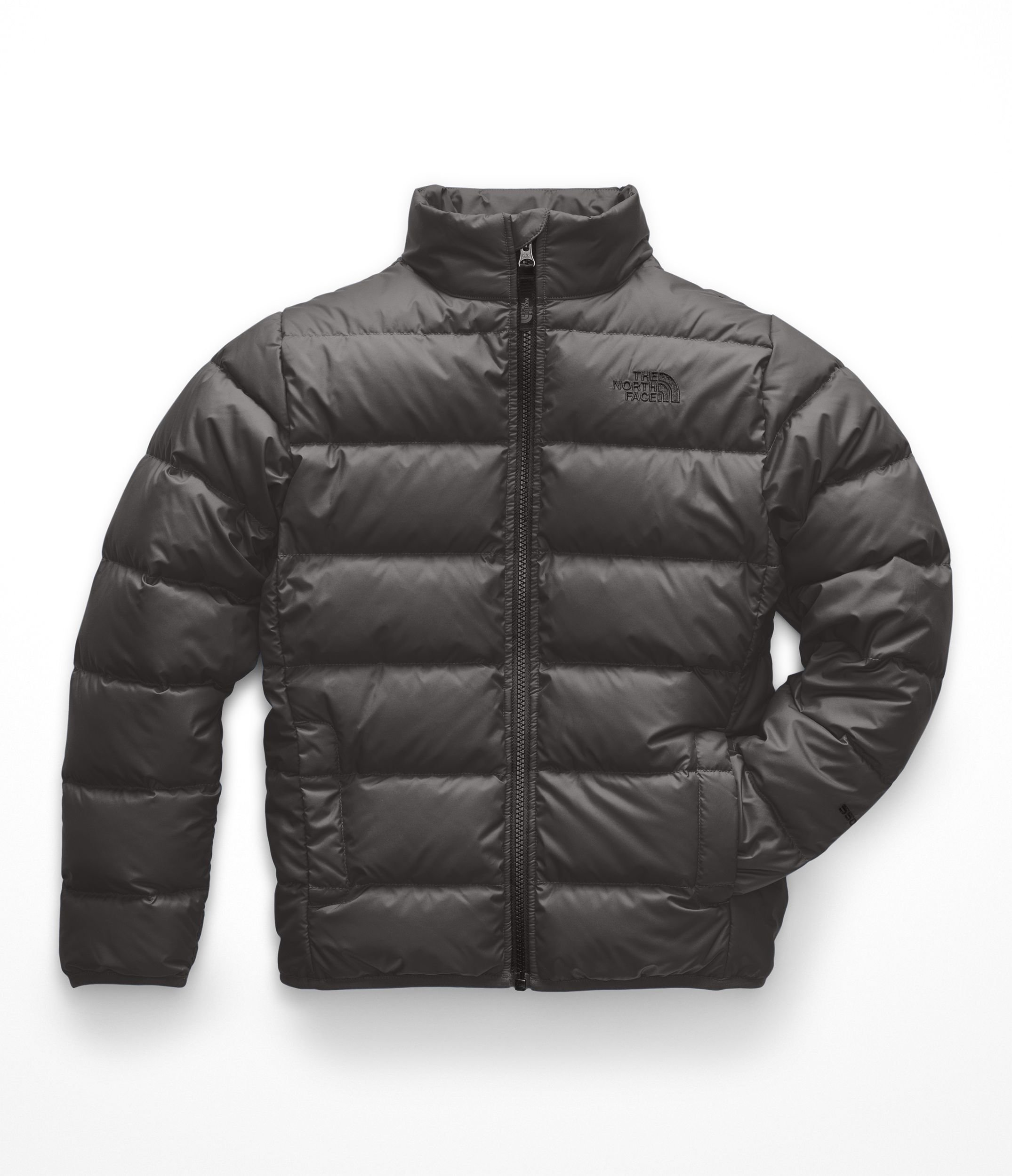 The North Face Boys Andes Jacket - Graphite Grey & TNF Black - S