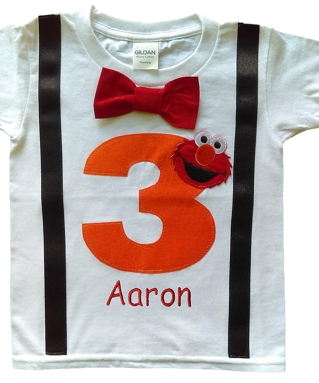 Perfect Pairz 3rd Birthday Shirt Boys Orange Elmo Tee
