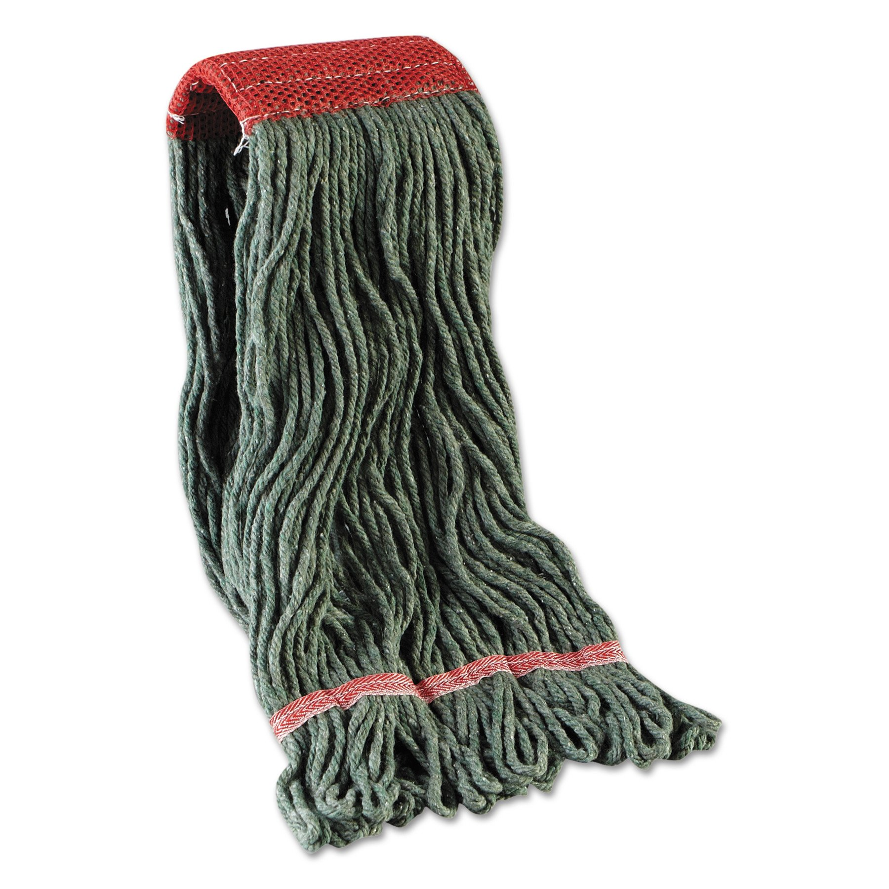 Boardwalk BWK403GN Mop Head, Premium Standard Head, Cotton/Rayon Fiber, Large, Green (Case of 12)
