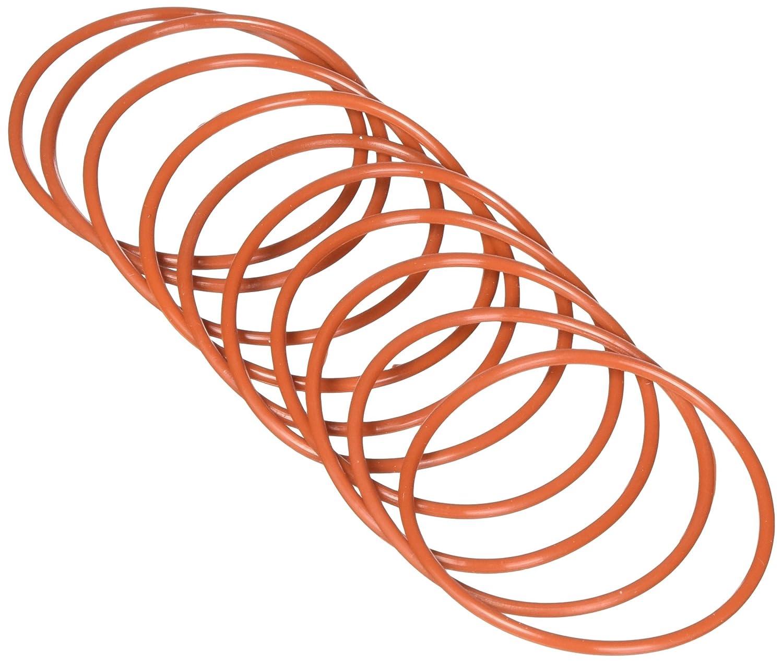 Sourcingmap 10 pezzi diametro esterno 55 millimetri a 2,5 millimetri filtro dellolio gomma spessa guarnizione o anelli rossi