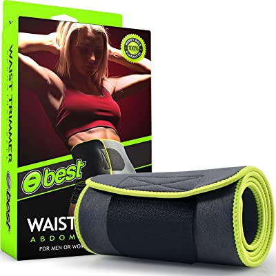 Best Waist Trimmer Belt (HIGHEST QUALITY NEOPRENE) Waist Trainer Stomach Wrap