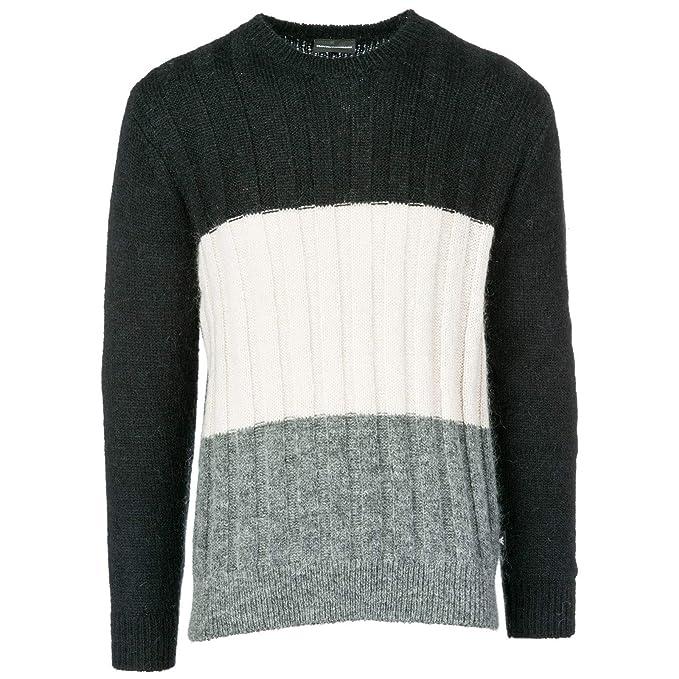 Emporio Armani Pull Homme Black - Grey -Beige L  Amazon.fr  Vêtements et  accessoires 21d624f6206