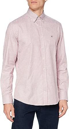 Hackett London Flannel CHK Camisa para Hombre