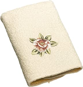 Avanti Linens Rosefan Wash Cloth, Ivory