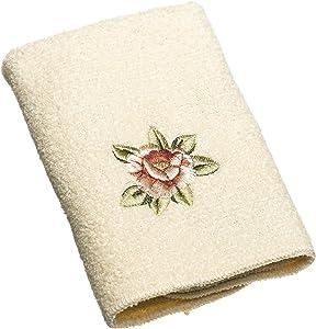 Avanti Linens Rosefan Wash Cloth, Ivory