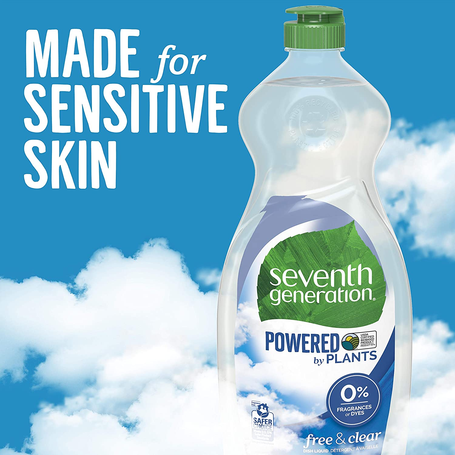 Seventh Generation Dish Liquid Soap, Free & Clear, 25 Oz, Pack of 6: Health & Personal Care