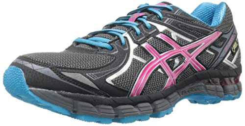 ASICS Women's GT 2000 2 G-TX Running Shoe,Titanium/Fuchsia Purple/Black,5 M US