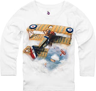 product image for Shirts That Go Little Boys' Long Sleeve Sopwith Camel Biplane T-Shirt