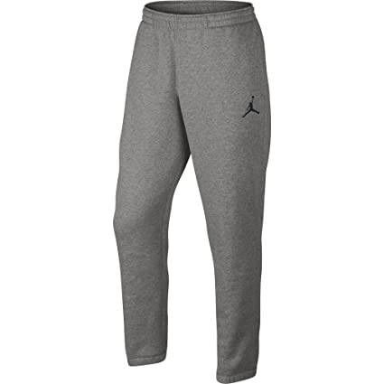 3f065ca3a0ccb9 Jordan Nike Mens Jumpman Brushed Tapered Fit Sweatpants Dark Grey Heather Black  688999-063