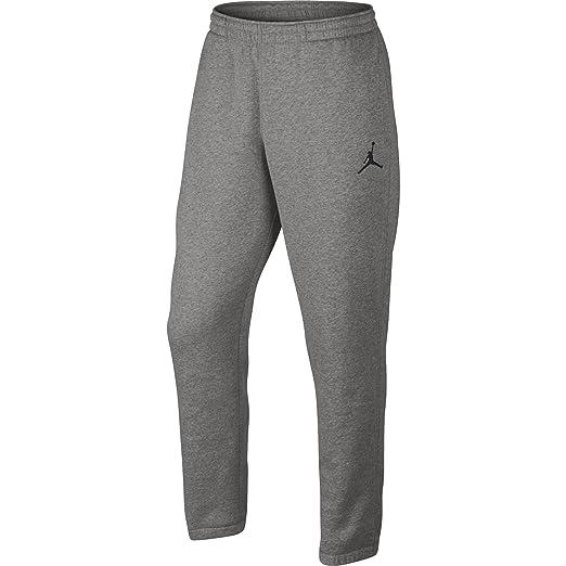 8c03b19cb9c Amazon.com: Jordan Nike Mens Jumpman Brushed Tapered Fit Sweatpants Dark  Grey Heather/Black 688999-063 Size Medium: Clothing
