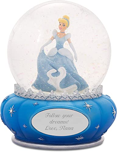Things Remembered Personalized Jim Shore Disney Showcase Princess Cinderella Snow Globe with Engraving Included