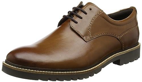 Rockport Men's Marshall Plaintoe Oxfords, Brown (Cognac Leather), 7 UK 40.5  EU
