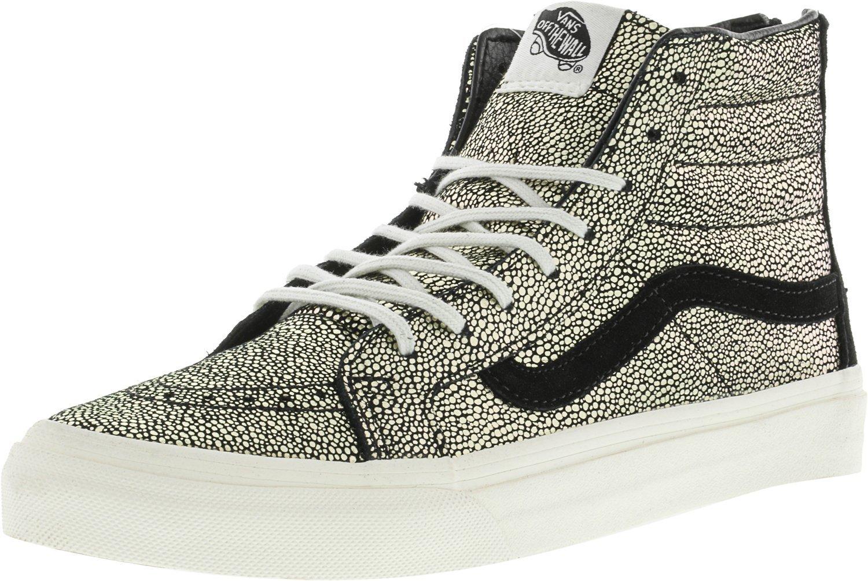 Vans Womens SK8-HI Slim Zip Gold Dots Sneaker Gold/Blanc De Blanc Size 8.5