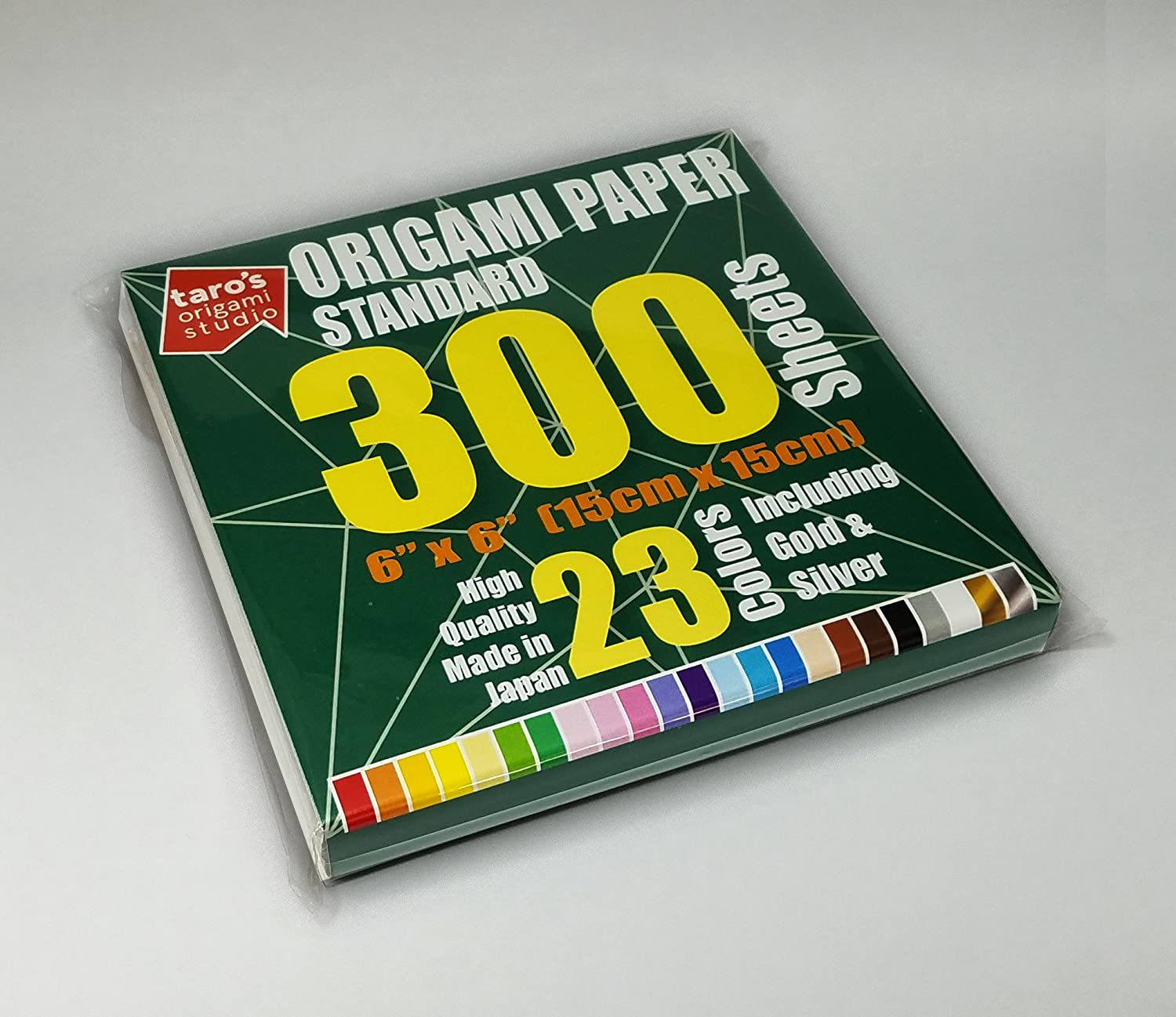 [Taro's Origami Studio] 23 Colors 200 Sheets 6x6 Inch Standard Single Sided Origami Paper Made in Japan Taro's Origami Studio standard variation
