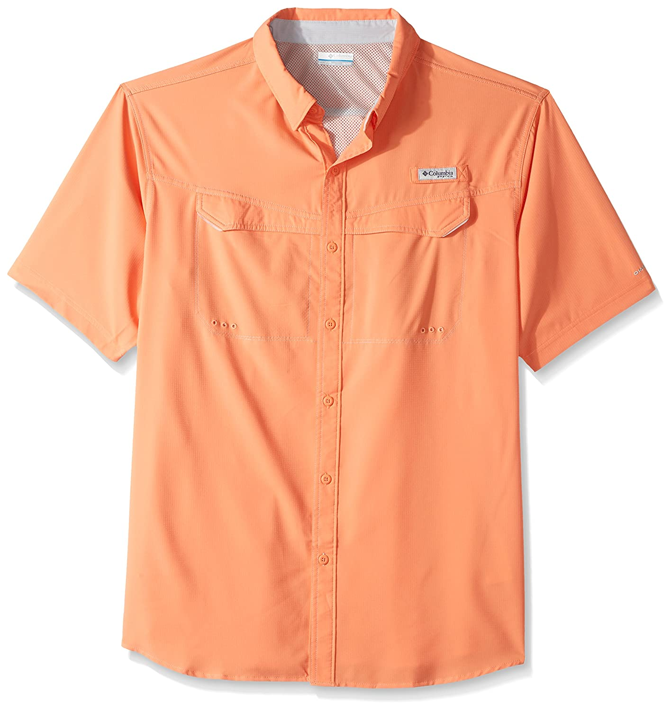 Columbia Men's Niedrig Drag Offshore Short Sleeve Shirt, Bright Peach, 4X