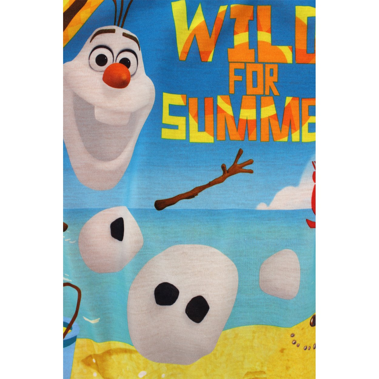 manufacturer Little Kid//Big Kid Disney Frozen Olaf Boys Orange Poly Pajamas