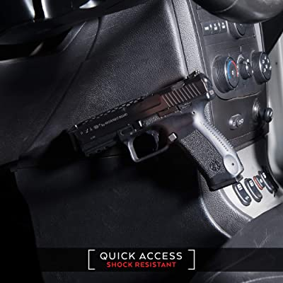 Magnetic Gun Mount & Holster for Vehicle and Home Shock Resistant