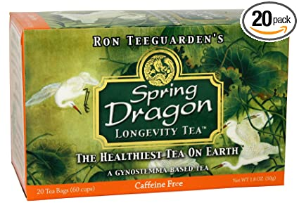 Dragon Herbs Spring Dragon Longevity Tea Caffeine Free 20 Tea Bags