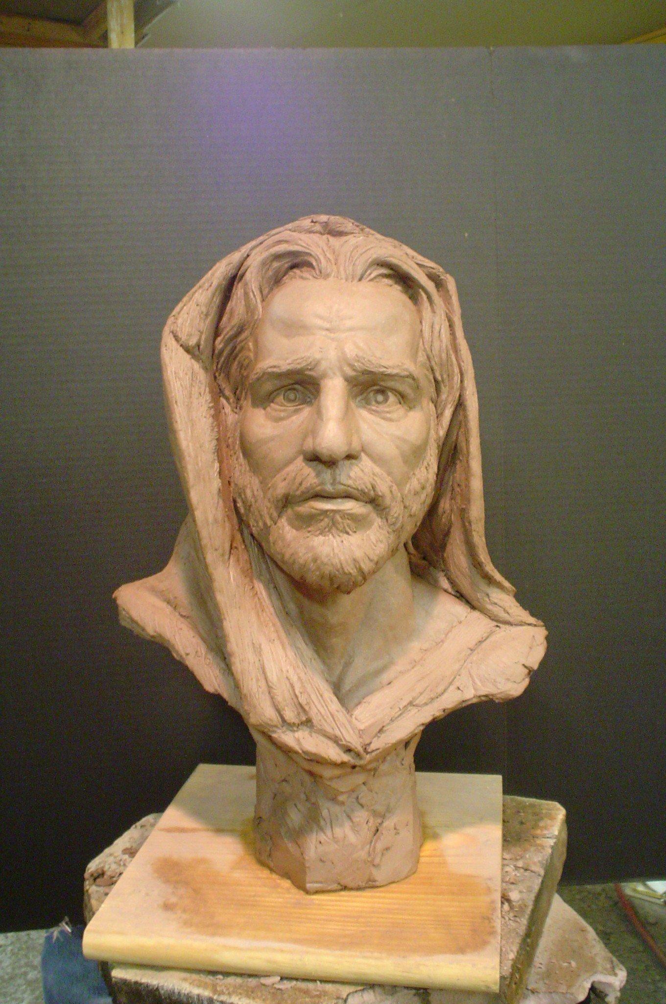 Hand Sculpted Gift Portrait of Jesus Christ of Nazareth, Religous Christian Art for Men, Women, & Children (Bronze & Marble Finishes)