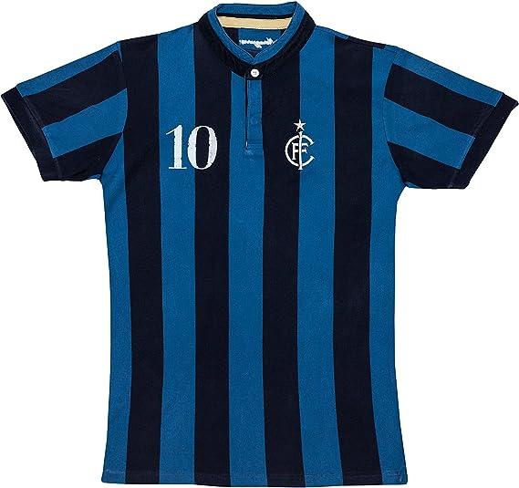 Coolligan - Camiseta de Fútbol Retro 1908 Nerazzurri - Color - Azul - Talla - XXS: Amazon.es: Ropa y accesorios