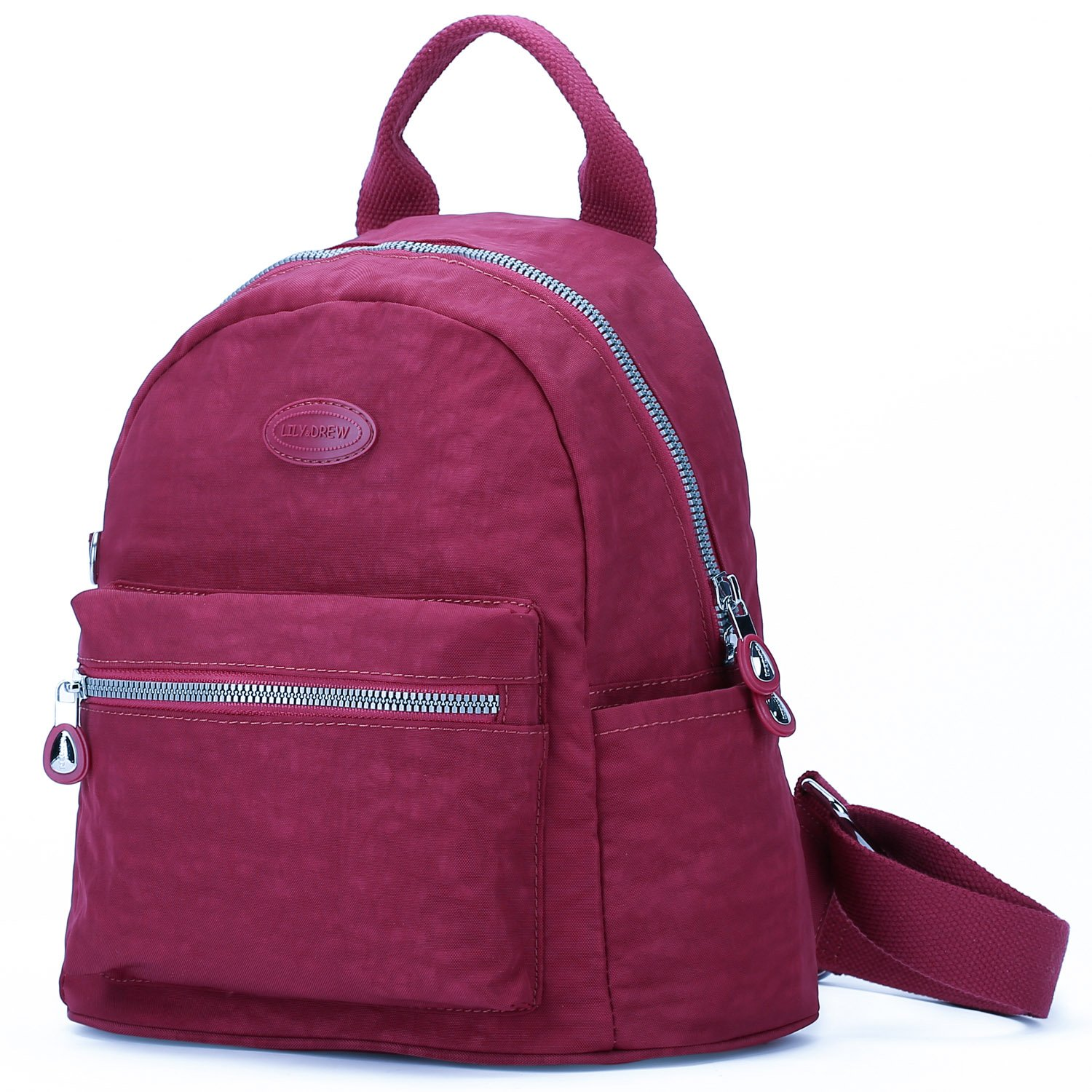 Lily & Drew Nylon Casual Travel Daypack Backpack Purse
