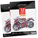 "Arteza Marker Pad 9X12"", Marker Book (60lb/100g, 32 Sheets, 2 Pack)"