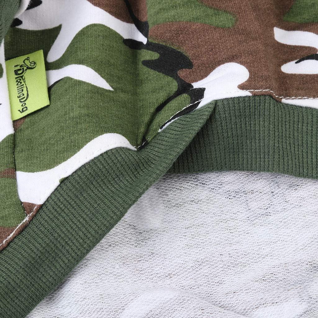 WFRAU Haustiere Tarnmuster Pullover Hunde Katzen Winter Herbst Halbarm Kapuzenpullover Outdoor H/ündchen Stehkragen Indoor Komfort Sweatshirt Welpen Bekleidung Haustiere Bekleidung