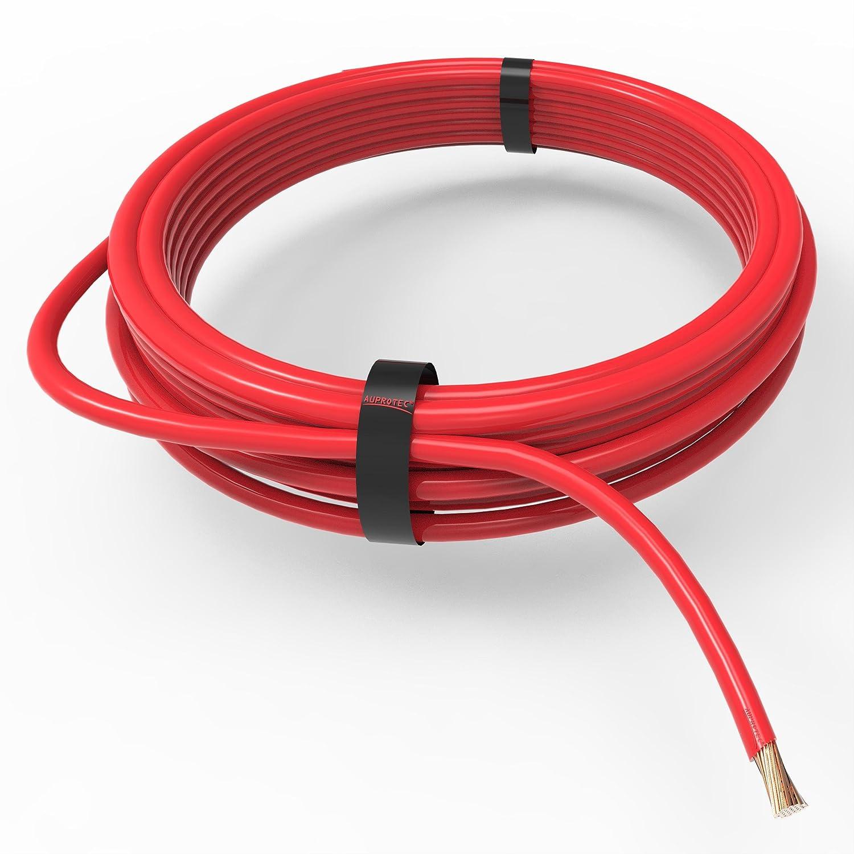 AUPROTEC Câble unipolaire 6,0 mm² FLRY-B Fil Électrique en anneau: 5m, rouge good
