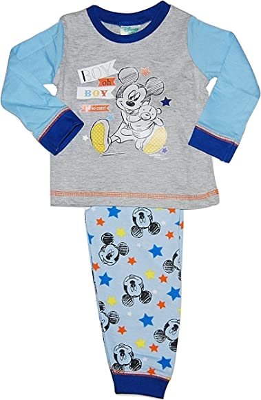 9-12 Mickey Mouse New Baby Boys Pyjamas Set Size 6-9 12-18 /& 18-24 Months