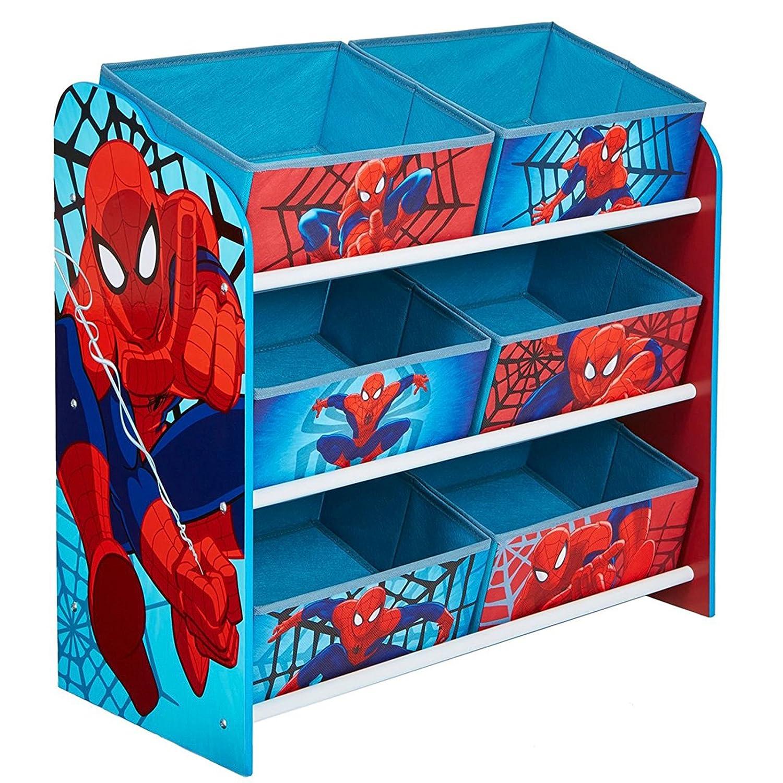 Spiderman 471SDR Meuble de Rangement pour Chambre d'Enfant avec 6 Bacs Polypropylène 30 x 63, 5 x 60 cm Worlds Apart