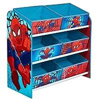Hello Home 471SDR Spider Man Mobile con Contenitori per la Cameretta, Legno, Blue, 30 x 63.5 x 60 cm