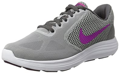 Nike Women s WMNS Revolution 3 Wf Grey Pink Running Shoes-3 UK India 8bd598765