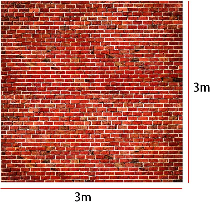 DORCEV 10x8ft Dirty Brick Wall Backdrop Vintage Old Retro Buliding Street Wall Photography Background Rustic Style Texture Brick Wall Children Adult Artistic Portrait Photo Studio Props Wallpaper