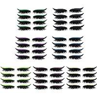 luning Adesivos de cílios postiços com glitter, 7 cores, adesivos de maquiagem para os olhos em caixa, primeira linha