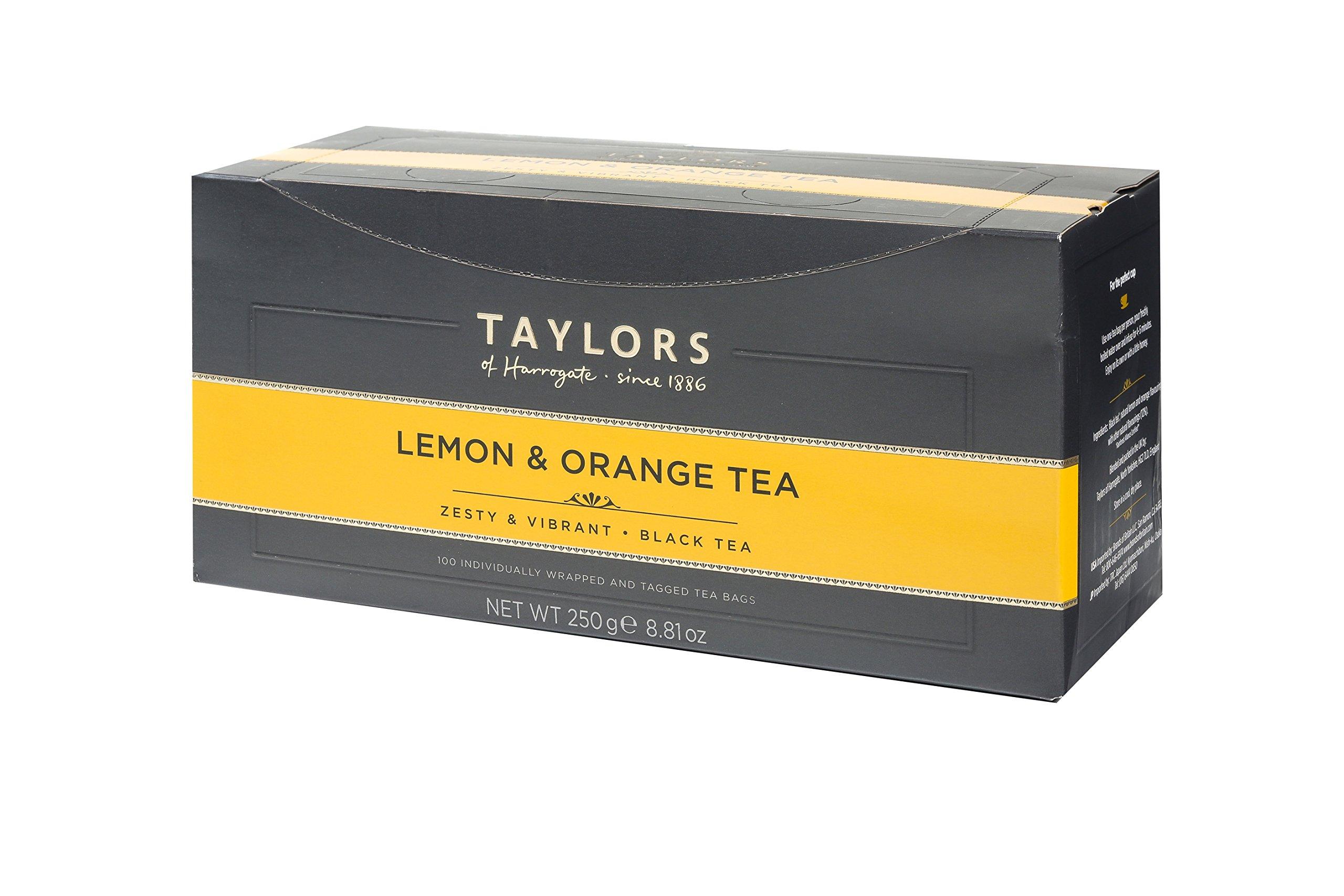 Taylors of Harrogate Lemon & Orange Black Tea, 100 Teabags