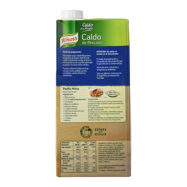 Knorr - Caldo de la Abuela - Caldo de Pescado - 1l - [pack de 3]: Amazon.es: Alimentación y bebidas